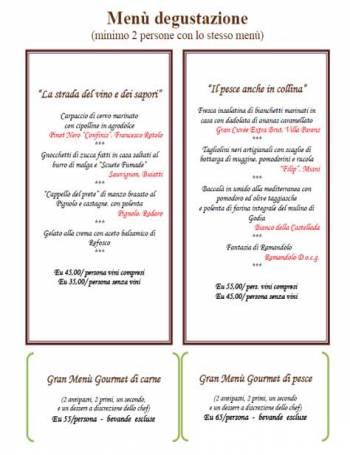 catalogo-Menu of the Osteria di Ramandolo