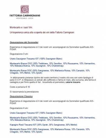 catalogo-Tastings of Carmignani Toscana wines