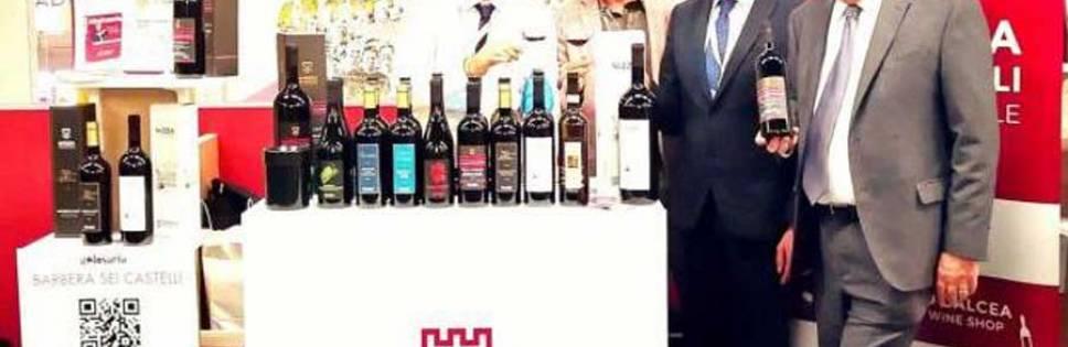 High jump of the bottles Consorzio Barbera d'Asti